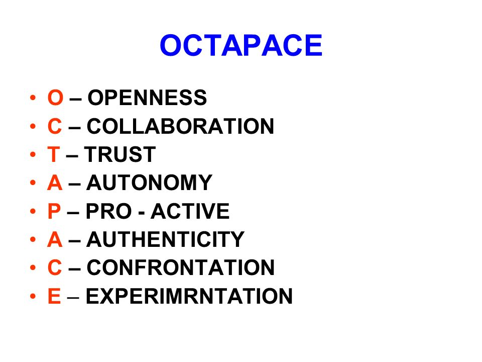 Organisation and OCTAPACE Culture